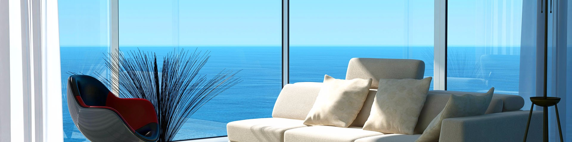 windows with ocean view